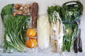 2月20日の無施肥無農薬栽培と自然栽培の野菜の定期宅配セット