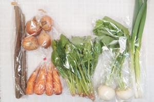 4月2日の無施肥無農薬栽培と自然栽培の定期宅配Sセット/小カブ、ニンジン、ゴボウ、玉ねぎ、ほうれん草、九条細ネギ