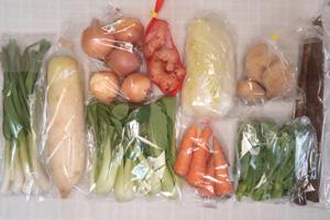 1月17日の無施肥無農薬栽培と自然栽培の野菜の定期宅配セット