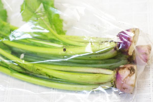 無肥料・野沢菜