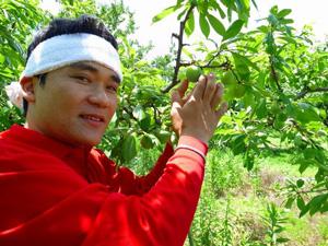 生産者の野田さん。都内で20年働き2011年に親の後を継ぐべく決心してUターンされました。